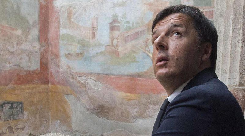 Il presidente del Consiglio Matteo Renzi in visita alla Villa dei Misteri di Pompei