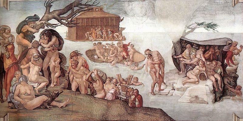 Diluvio Universale Michelangelo
